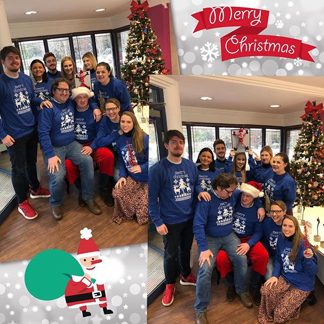 Doing our bit in OMD to raise money for CMRF! @wearemirrormedia sent us in these fab #jumpersforjoy! @dublinlive_