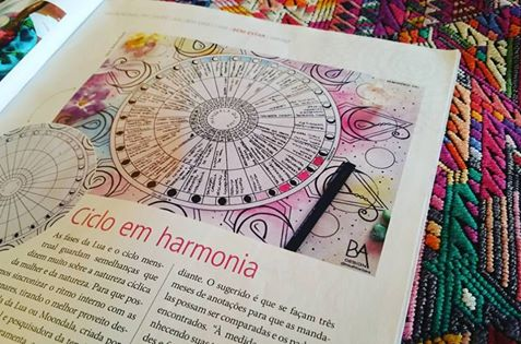 Mandala da Lua DanzaMedicina na Revista Bons Fluidos.