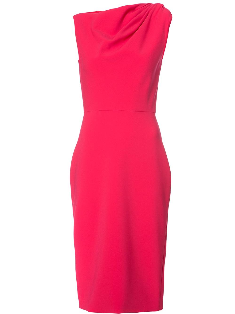 Christian Siriano Fushia asymmetrical dress, L'Armoire, New Canaan, CT, $1,050