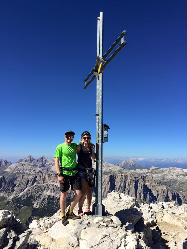 Charlie and I at the top of Piz De Lec  9547 ft