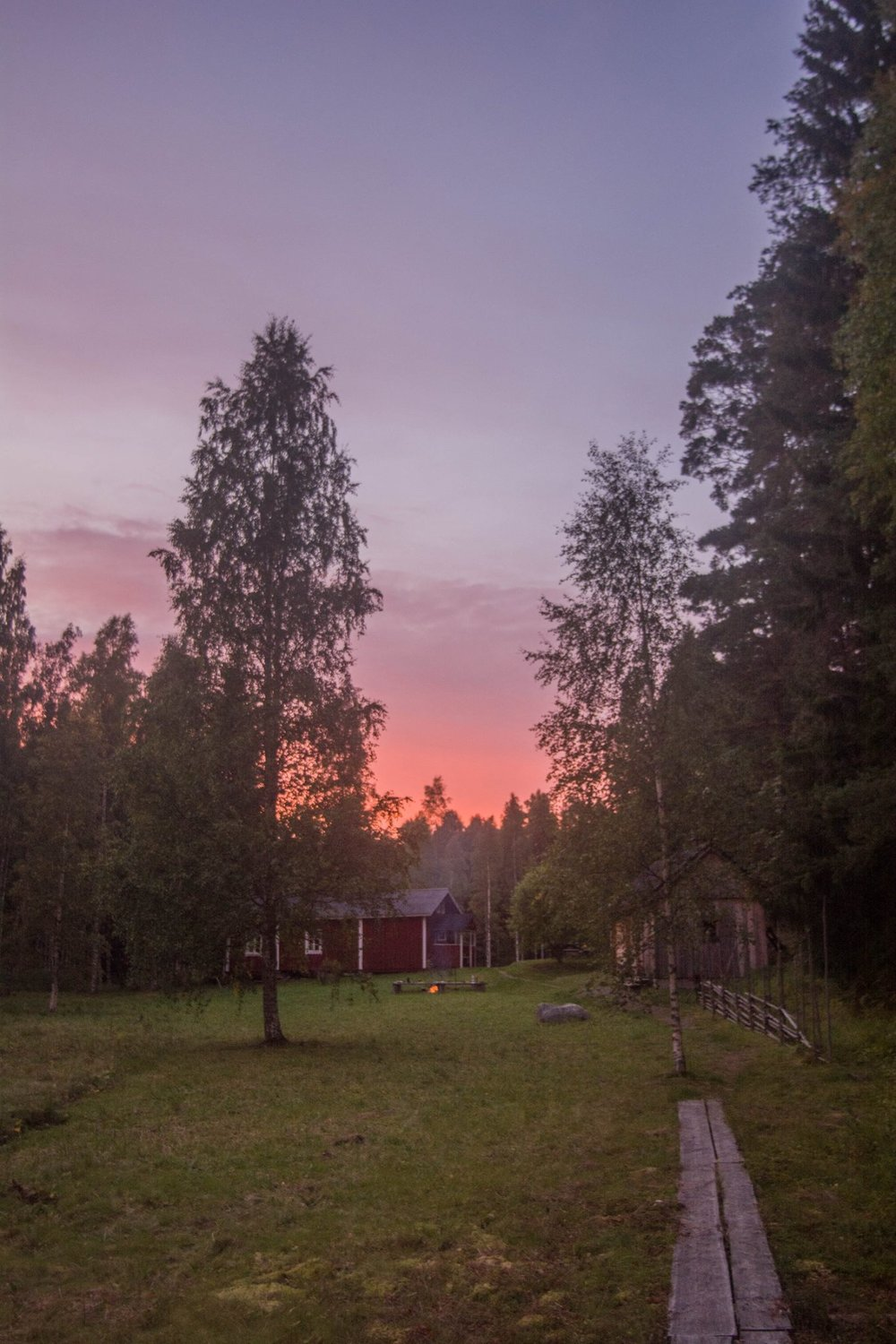 The sun setting on our cabin for the day | Photo credit Jere. B