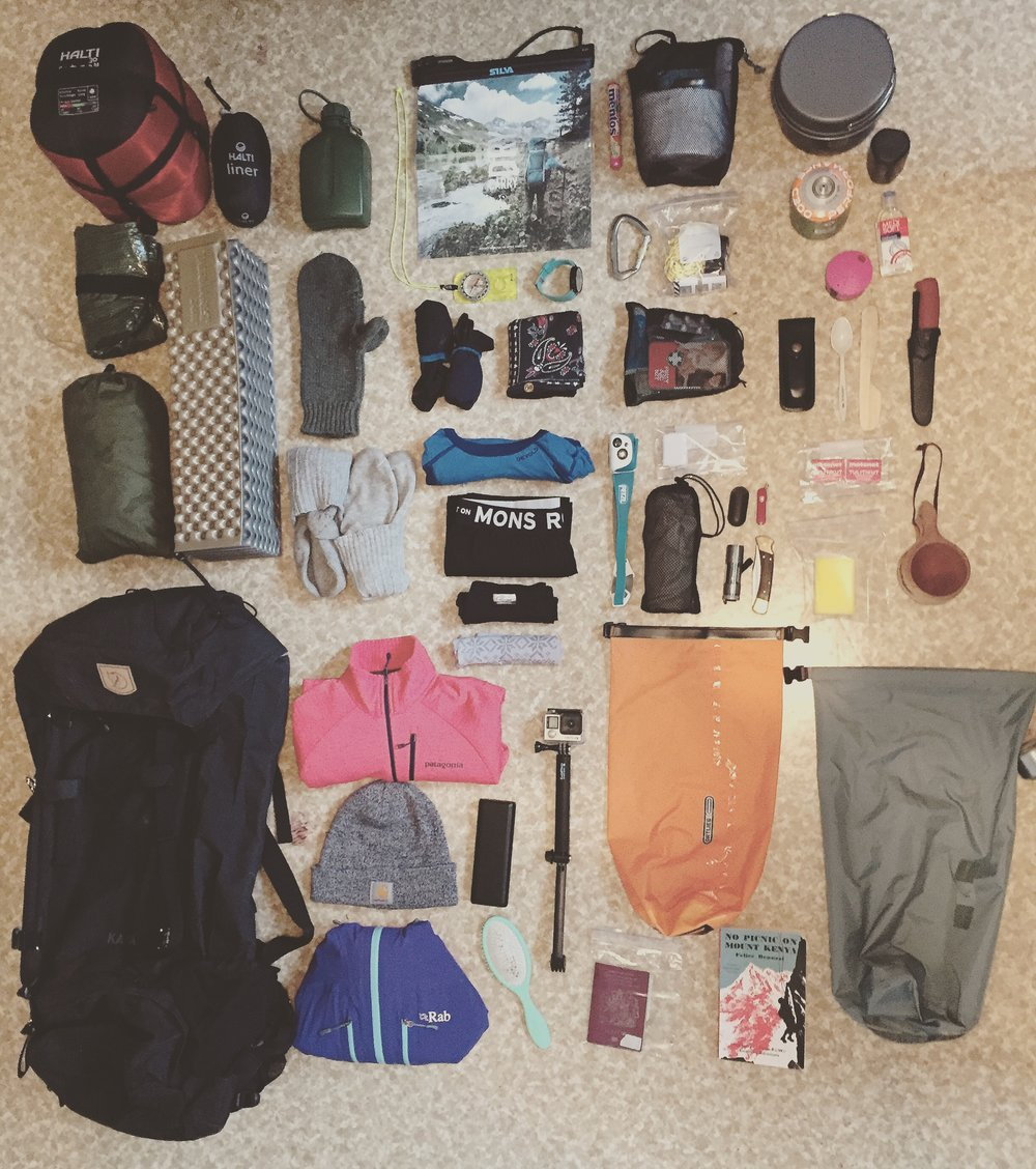 Gear List - Full kit list on the link below