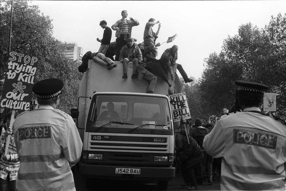 3rd Anti Criminal Justice March London 9 Oct 94