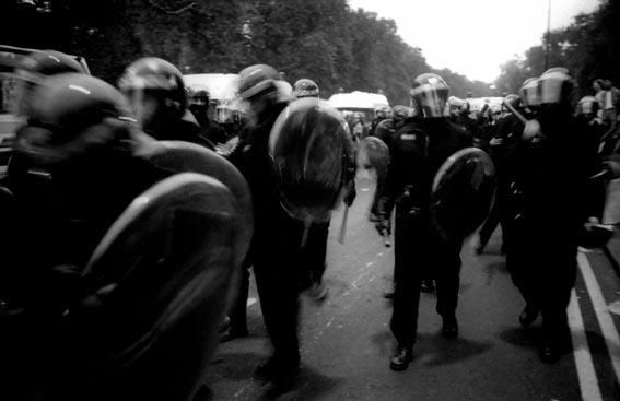 Anti CJA 3 94 Park Lane Riot Police