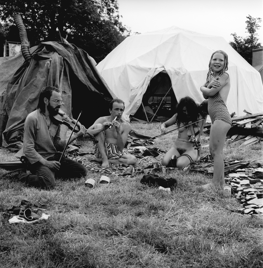 Violin And Penny Whistle In The Green Fields Glastonbury Festival 1989