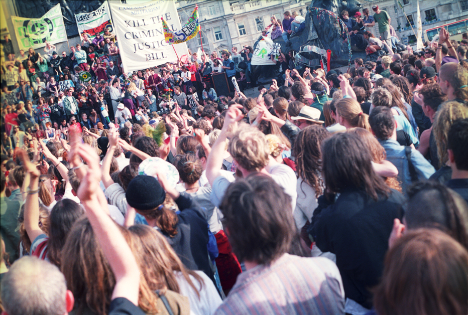 1st Anti Criminal Justice Act March Trafalgar Square London 1 May 94 902