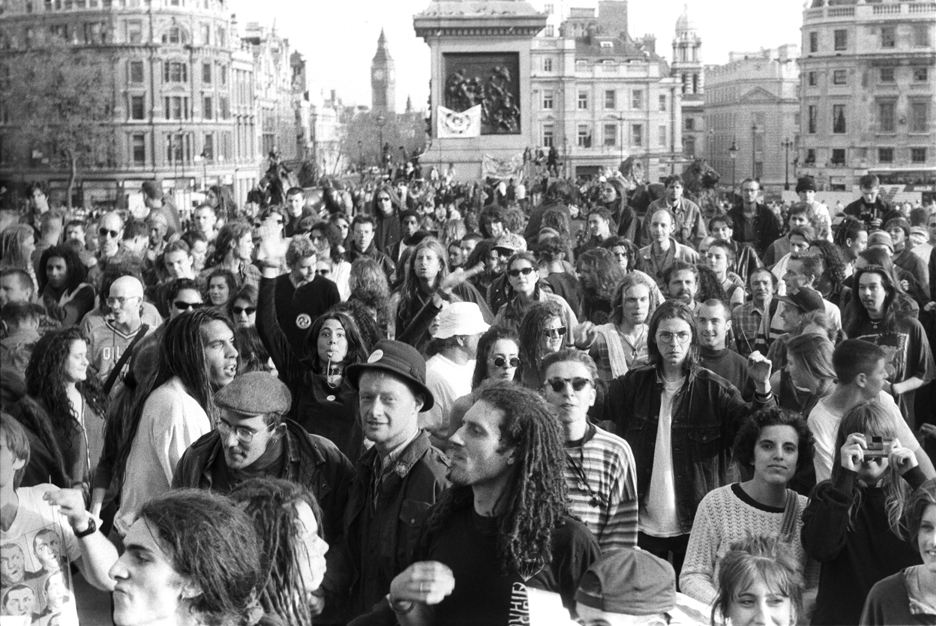 1st Anti Criminal Justice March Sunnyside Trafalgar Square Mayday 94 672