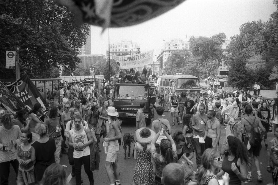 2nd Anti CJA March London 24 July 1994