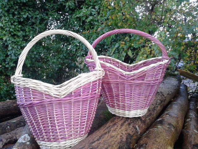 Handmade Heart Basket : Cradle to grave hand made willow baskets