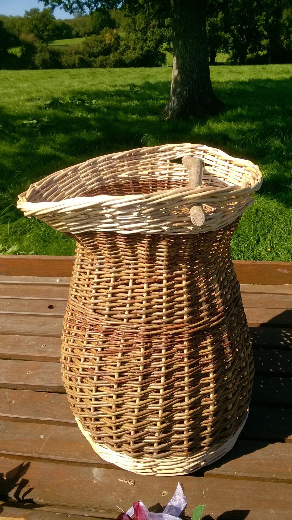 Blacksmiths Charcoal Bucket or Coal scuttle with Hazel Wood Handle £70