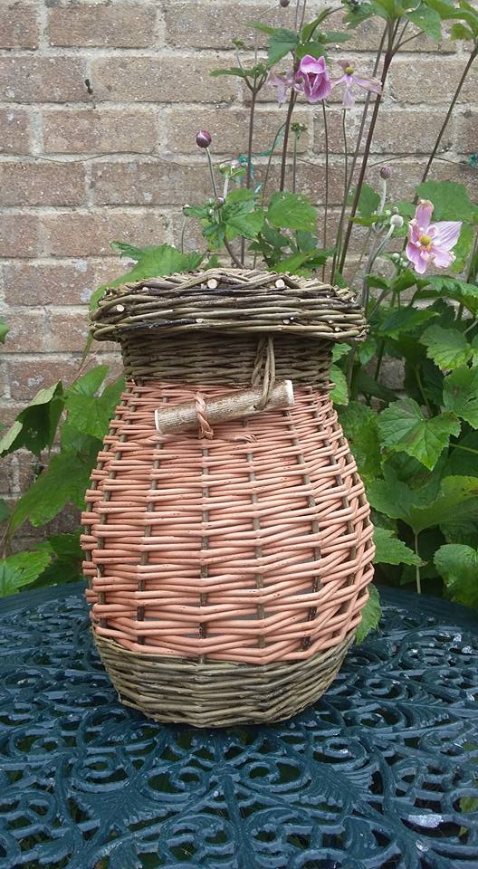 buff and brown willow ash urn £55
