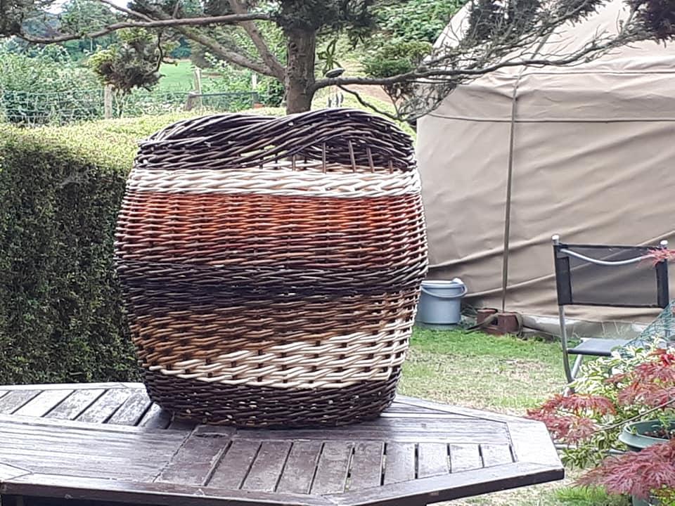 large log basket £65