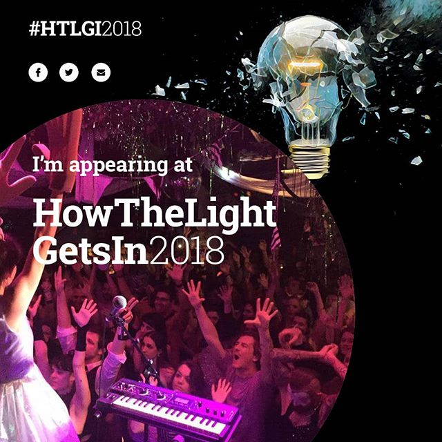 We're playing at How The Light Gets In Festival tomorrow in Hay on Wye (Sunday 27th May). We'll be  playing at the Waterfront on the Riverside site at 11.30  #htlgi2018