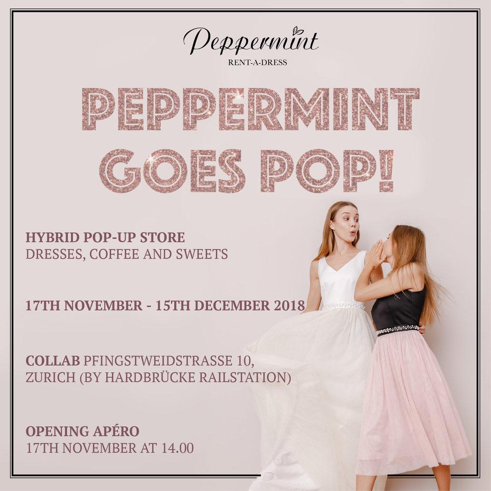 peppermint rent a dress collab