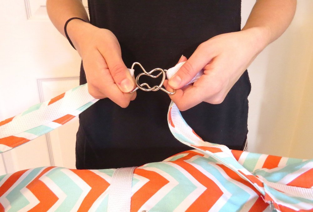 Looping closures easily hook together to create straps