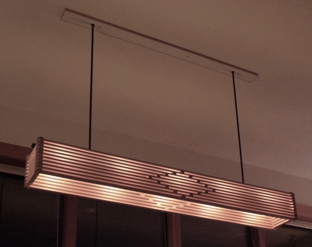 SLAT LIGHT - cypress and steel