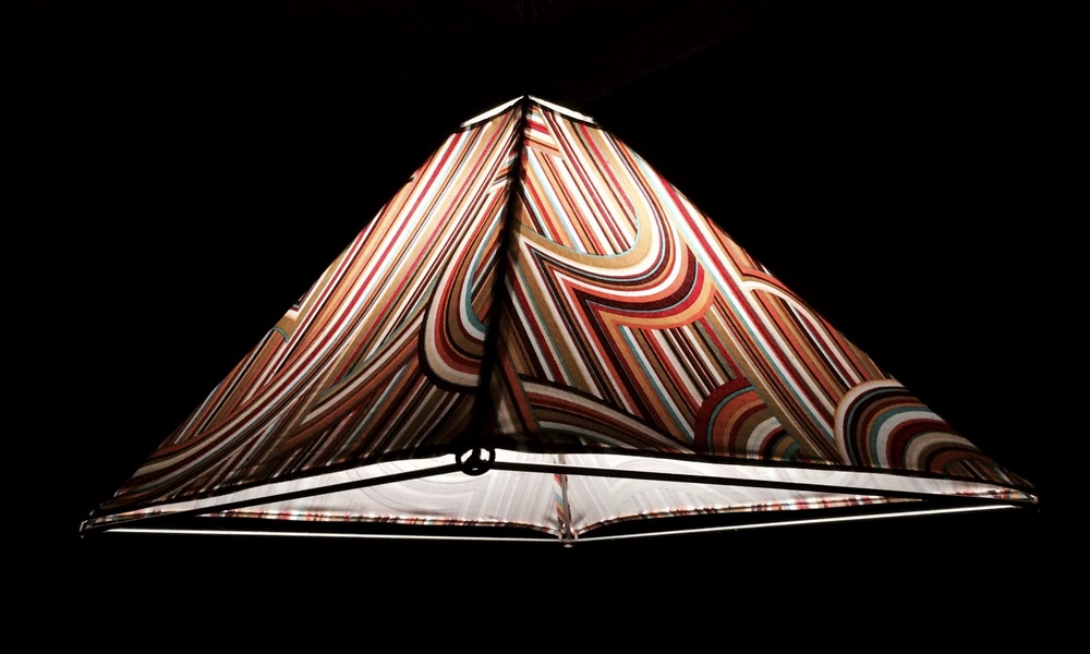 BEACH LIGHT - fabric stretched over steel frame