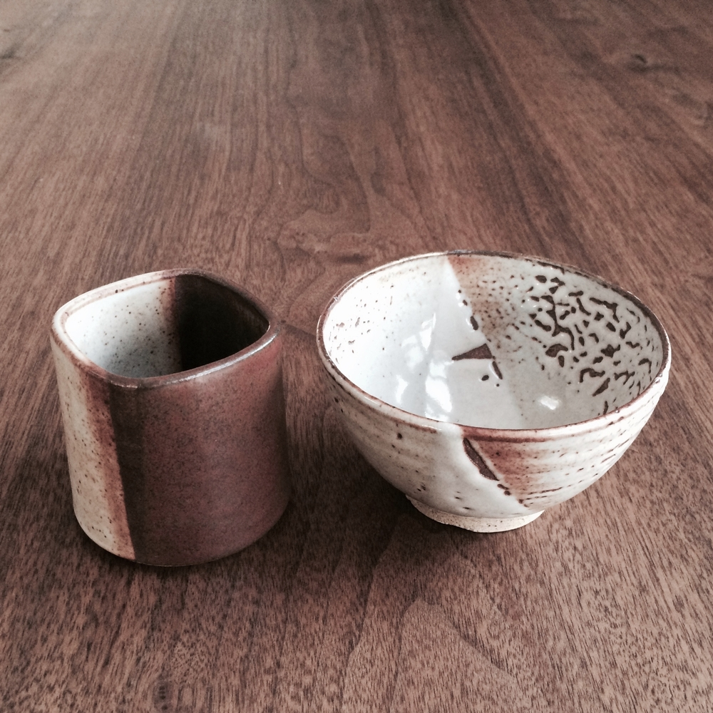 CERAMIC CUP AND BOWL