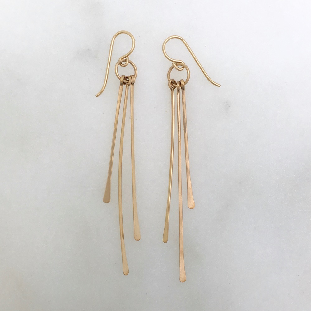RAIN EARRING - 14k gold fill or sterling silver