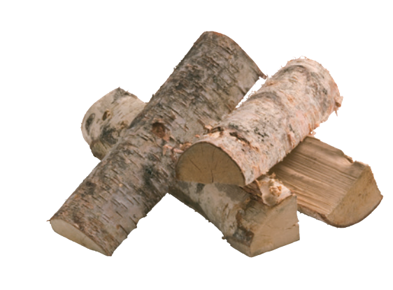 Birch Wood - Birch is a lighter wood and is good for lighting, as it catches easily and heats well. It does not produce much smoke, but burns with attractive flames and a wonderful aroma. The same is true for lime and chestnut wood.