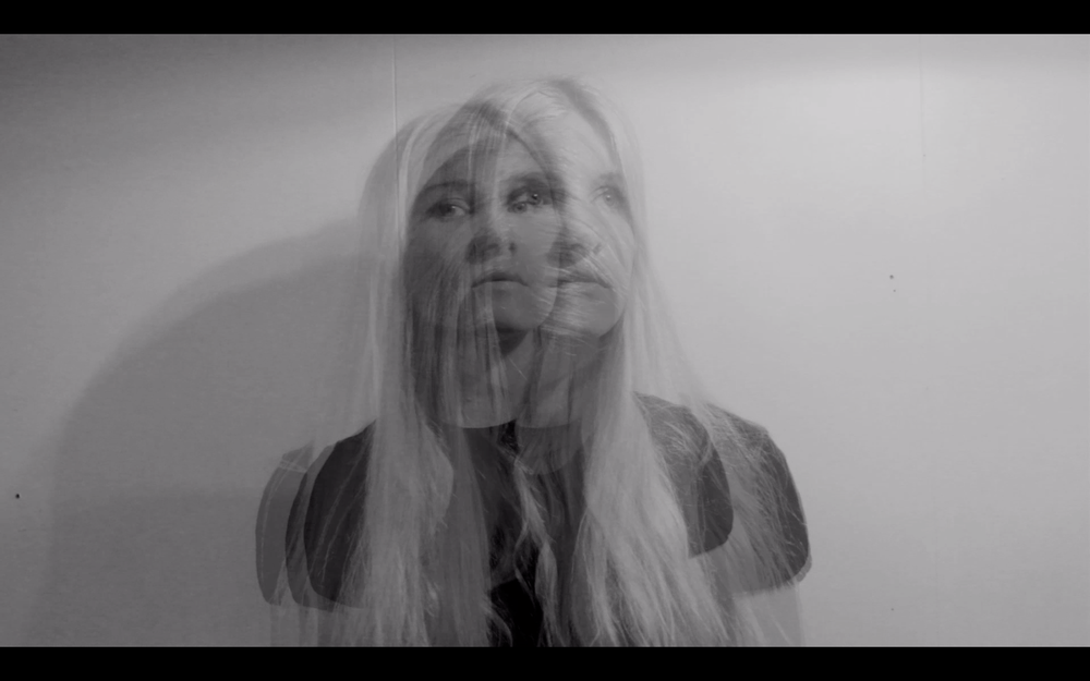A still from a video, Self Portrait.