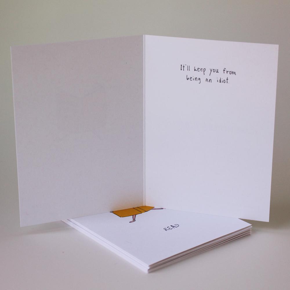 Cafe Notes + Company Read Idiot Card