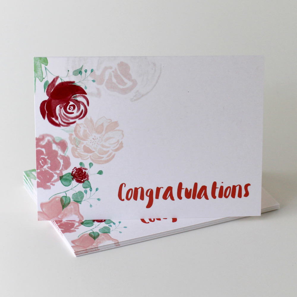 Cafe Notes + Company Congratulations Card