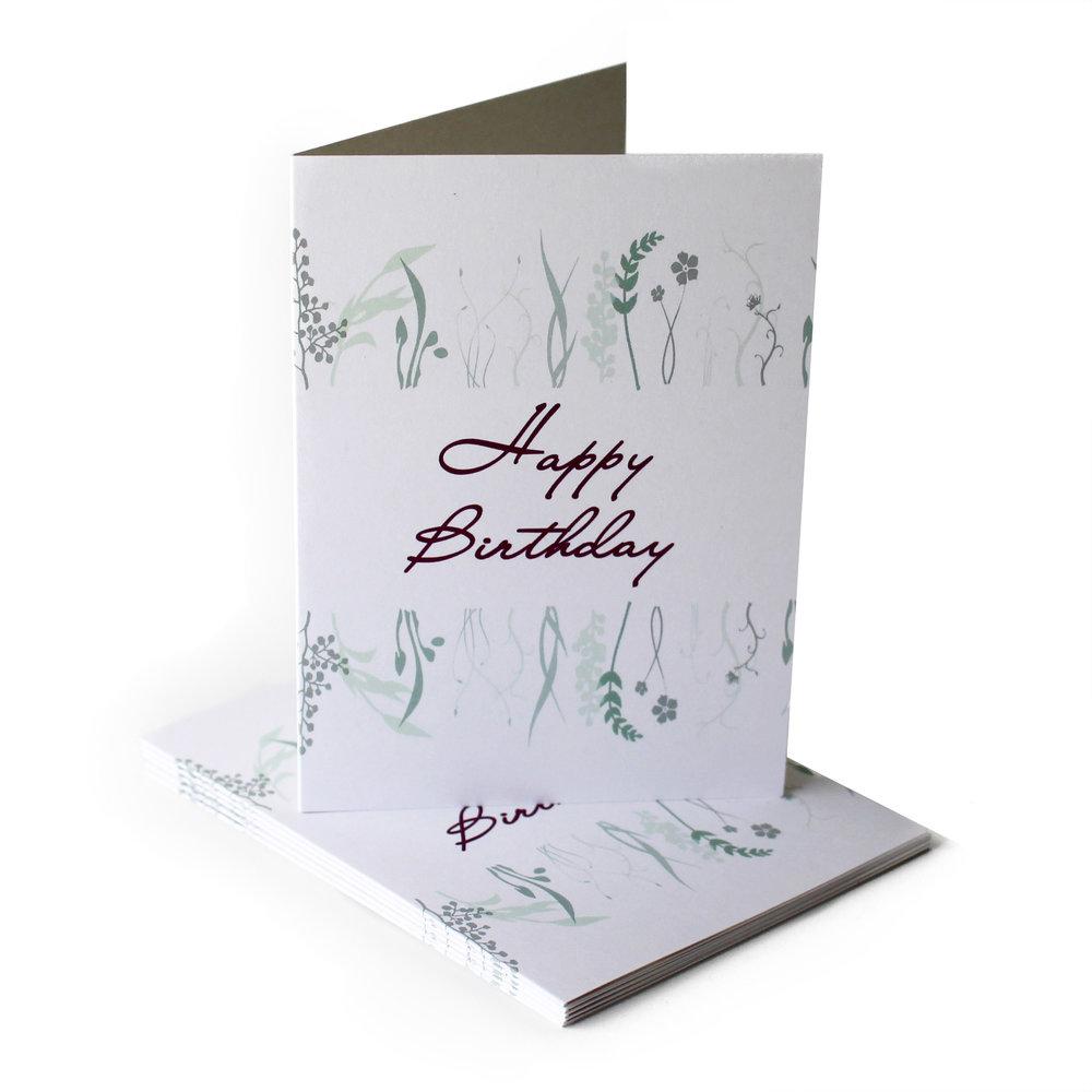 Cafe Notes + Company Birthday Card