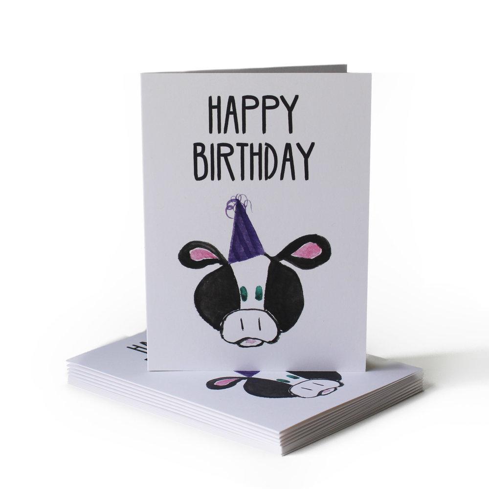 Cow Joke Birthday Greeting Card