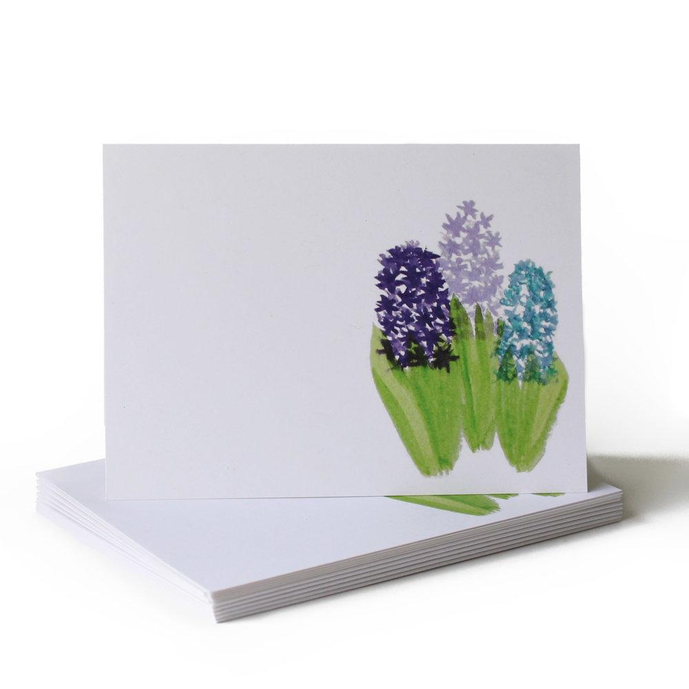 Hyacinth Just Because Greeting Card