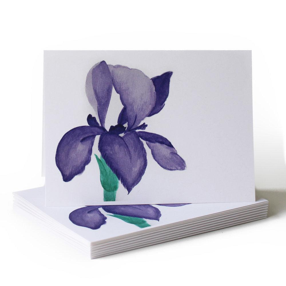 watercolor iris just because greeting card.jpg