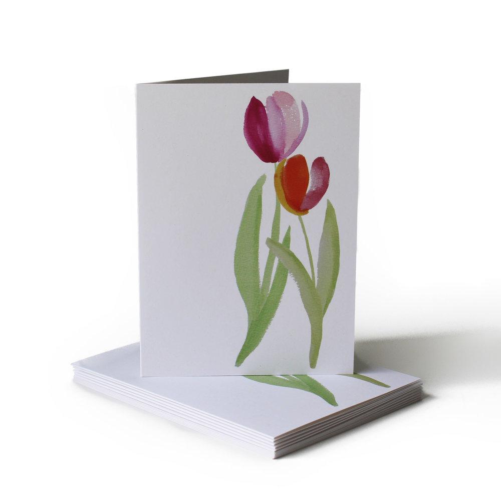 Tulip Just Because Greeting Card