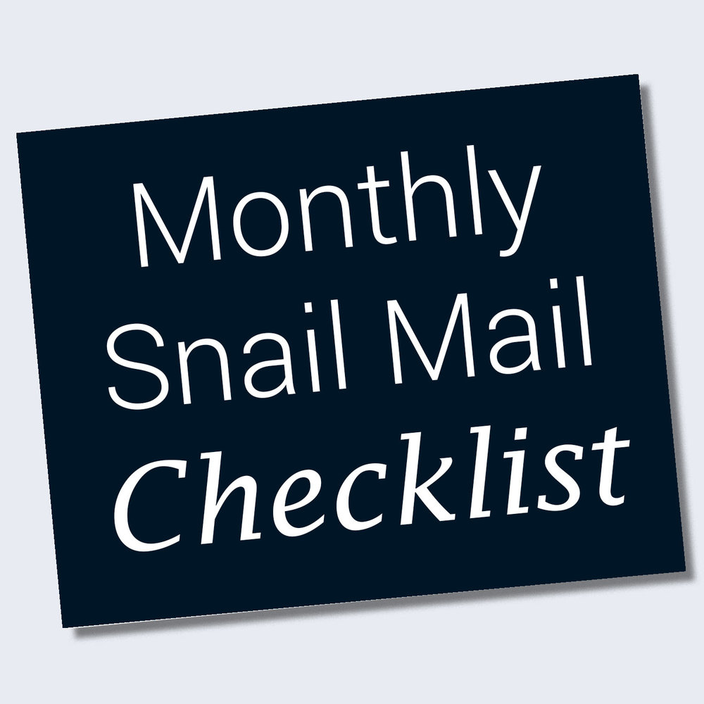 Love a good checklist? - Click the button to download a list of what you can do each month to get those cards mailed on time!