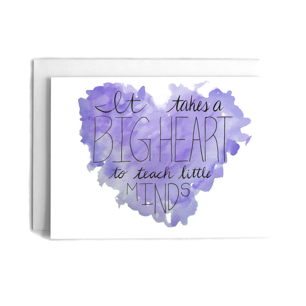 It Takes A Big Heart Thank You Greeting Card Cafe Notes Company
