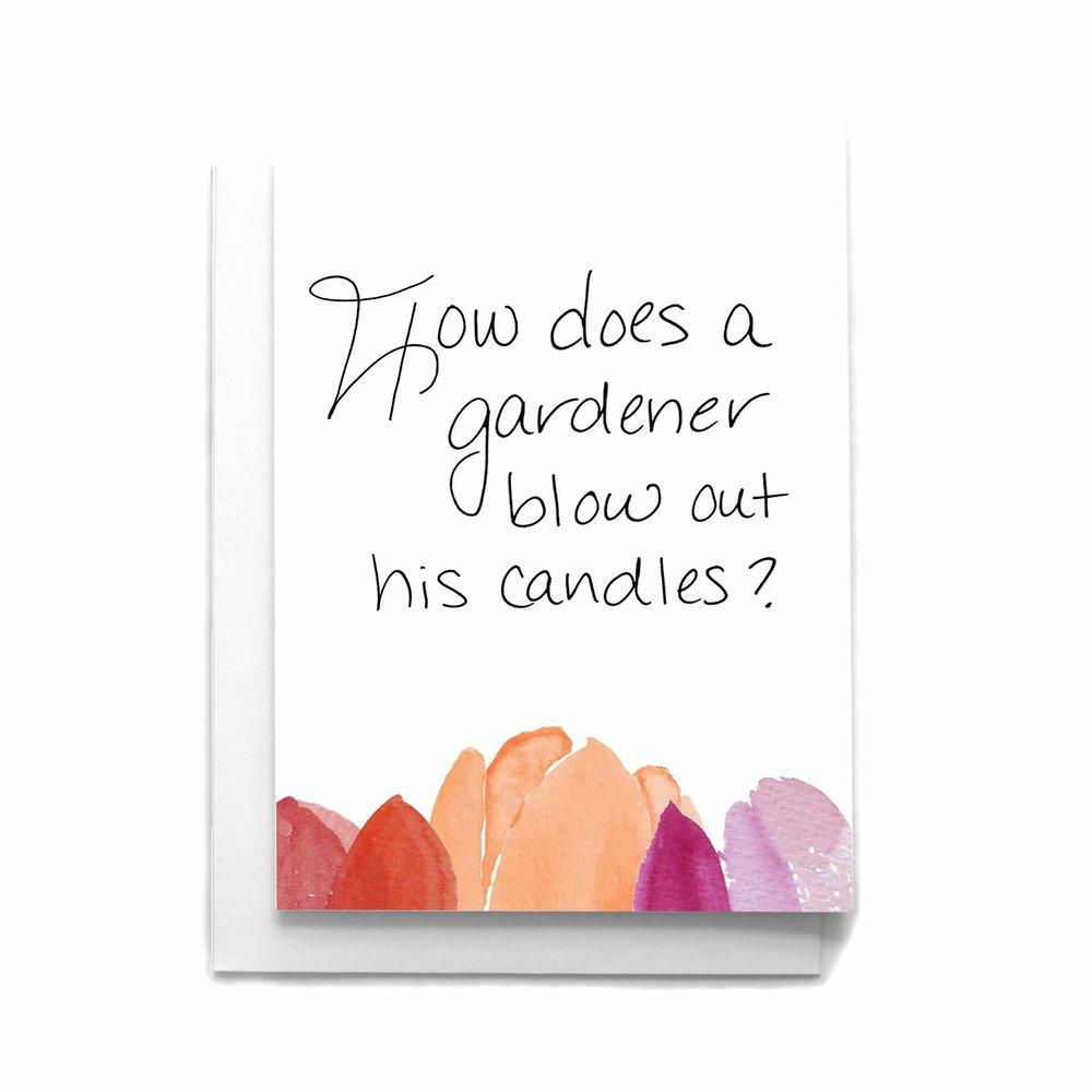Gerbera daisy birthday wishes birthday greeting card cafe notes gardener pun birthday greeting card m4hsunfo