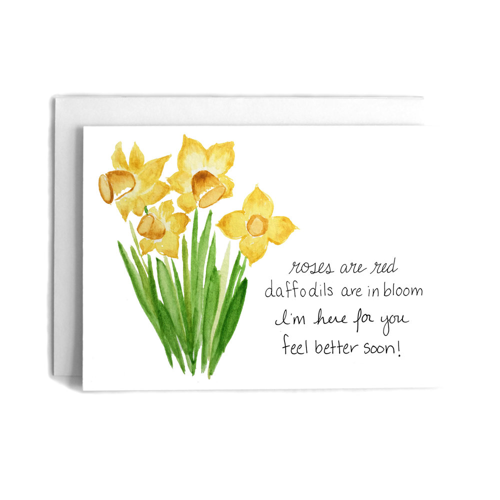 Daffodil poem get well greeting card cafe notes company daffodil poem get well greeting card m4hsunfo