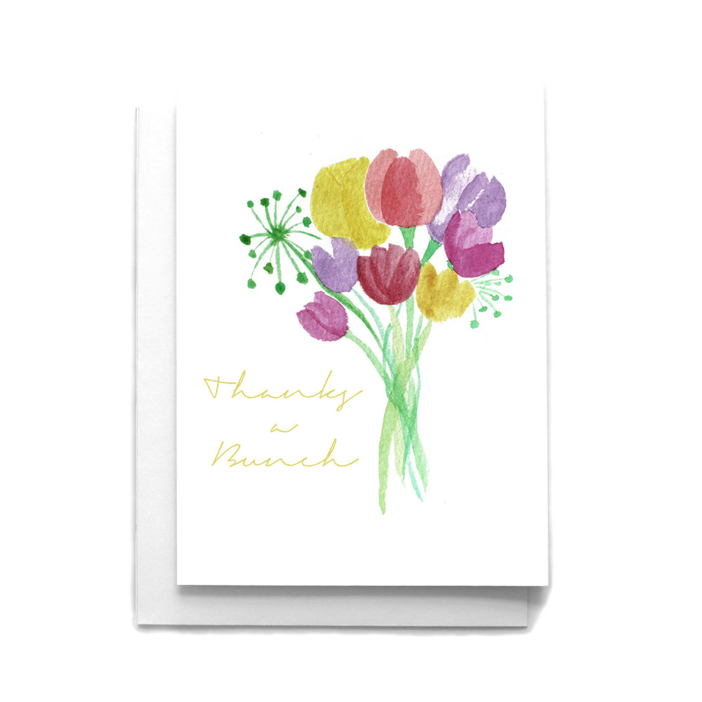 Thanks a bunch thank you greeting card cafe notes company thanks a bunch thank you greeting card m4hsunfo