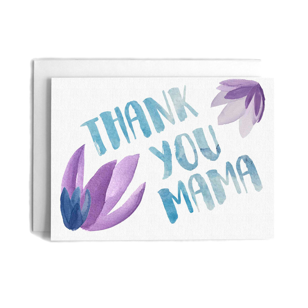 Thank You Mama Mothers Day Greeting Card Cafe Notes Company