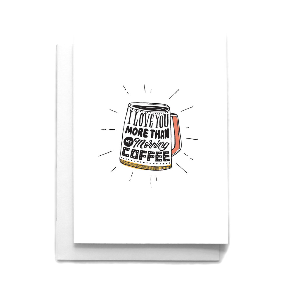 More Than Coffee Love Greeting Card Cafe Notes Company