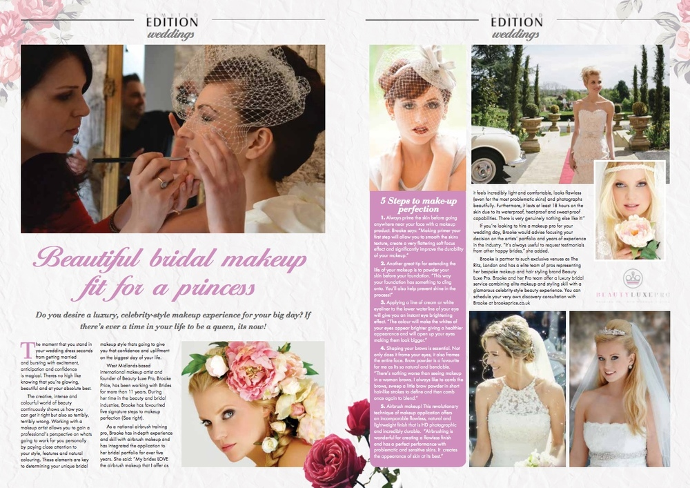 bridal makeup and hair by brooke price of beauty luxe pro - http://www.brookeprice.co.uk/