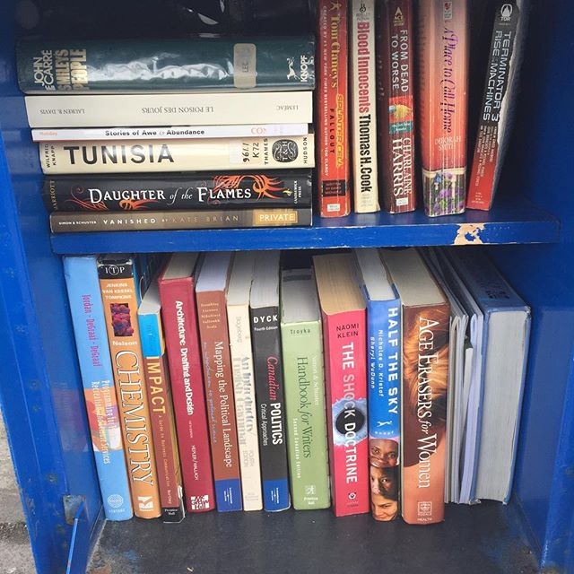 The Open Bookshelves boxes in downtown St. John's are still going strong. Have a book? Leave a book. Want a book? Take a book.