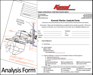 A completed Analysis Form is required for every installation. Information you supply regarding your vessel, application, and goals enables us to configure the appropriate equipment to meet your needs.