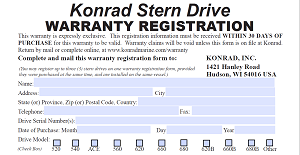 WARRANTY REGISTRATION FORM