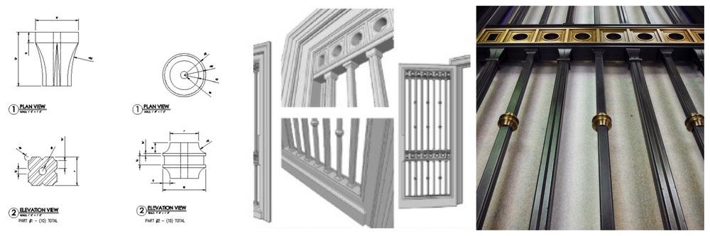 Custom Cast Aluminum & Brass Historic Door - Design by  Ferguson & Shamamian Architects  NYC