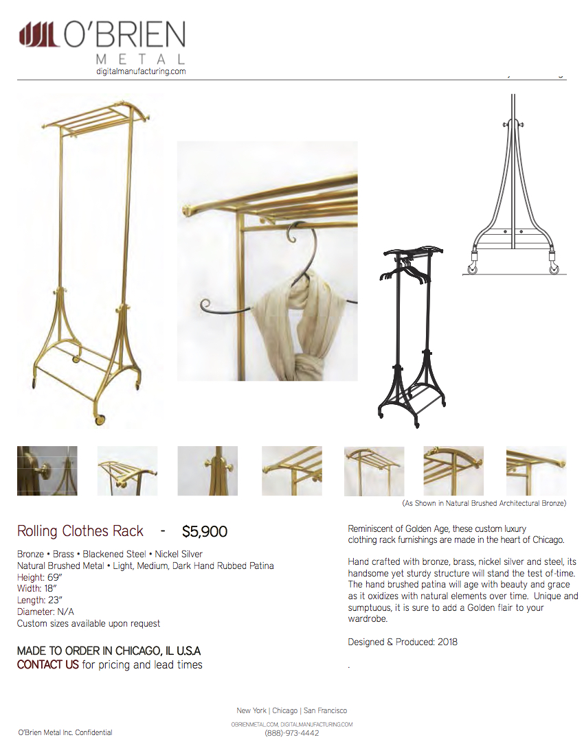 180615_O'Brien Metal Inc._Bronze Rolling Clothing Rack_Product Cut Sheet.jpg
