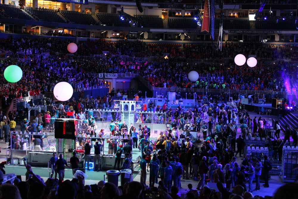 FIRST 2016  world championship closing ceremonies. // Photo taken by Wired Wizards student Gabrielle Despaigne.