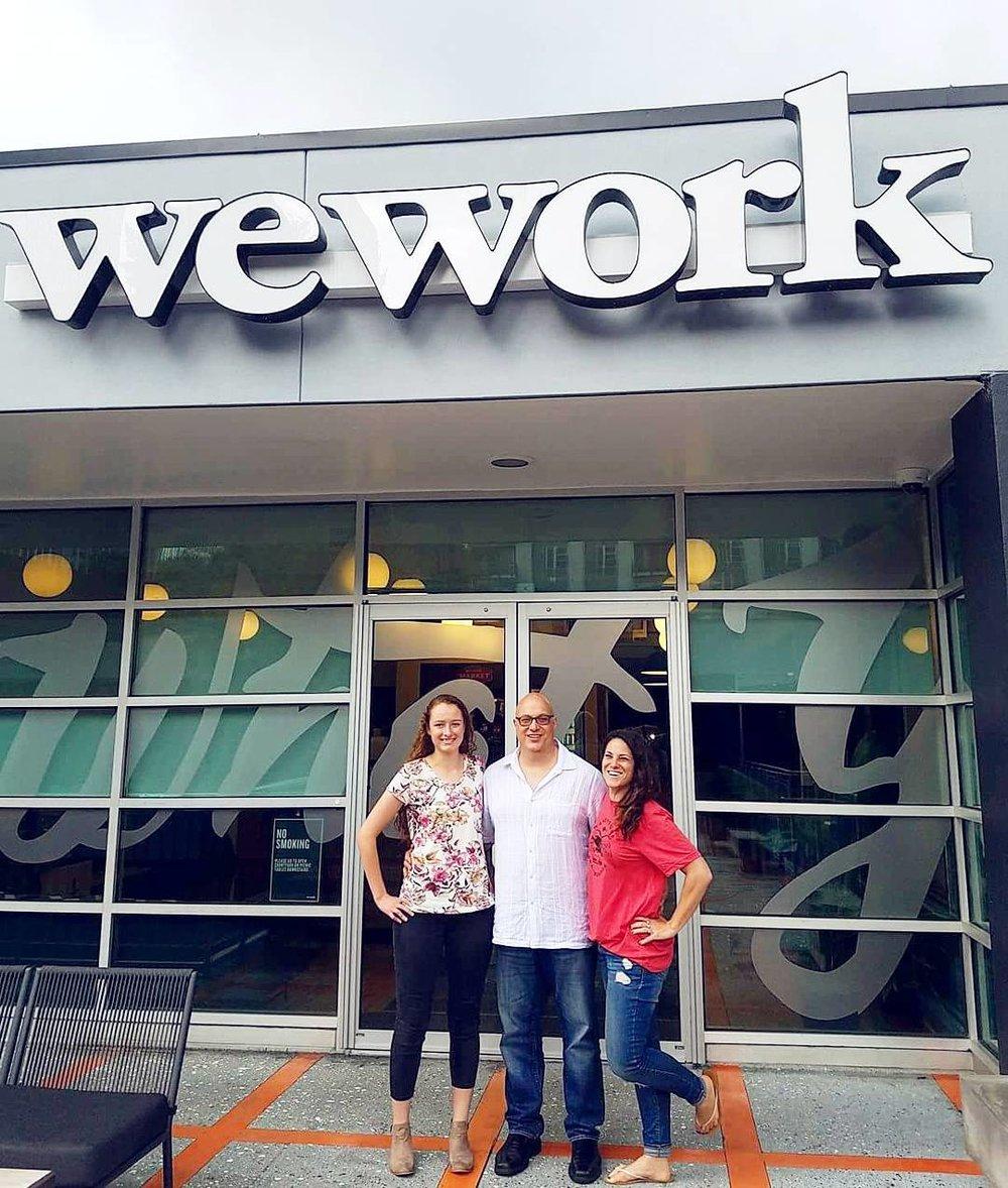 Espree Devora ,  Garrett Carrara , and I after the interviews at  WeWork .