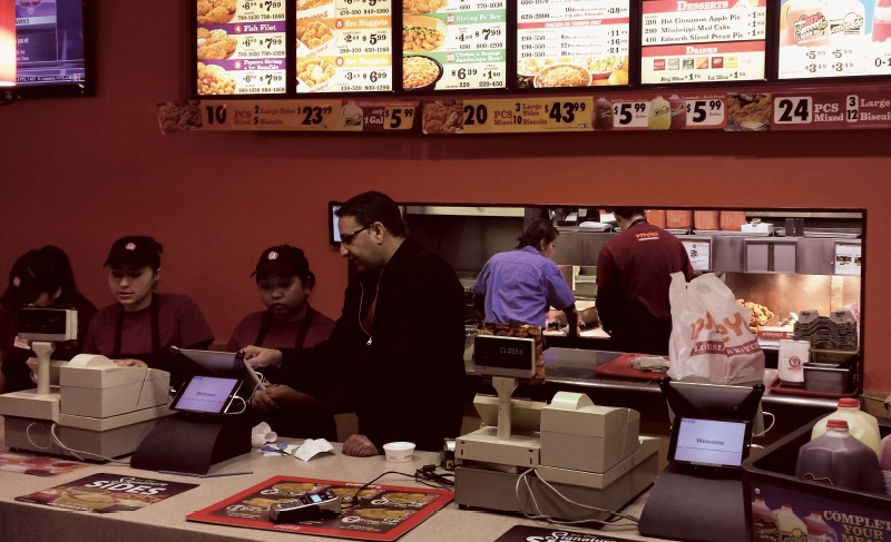 Popeyes is one franchise that is testing mobile-pay options on its restaurant counters. Image via franchisetimes.com