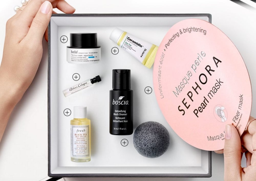 Sephora sends out monthly subscription boxes to clients who want to test out products. Image via mysubscriptionaddiction.com.