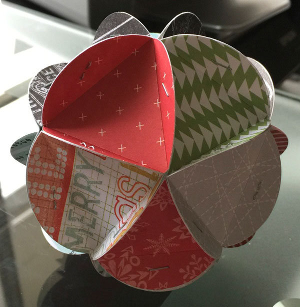 Paper Christmas Ornament Step 5